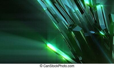 cristal, loopable, fond