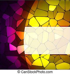 cristal manchado, diseño, template., eps, 8