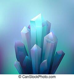 cristal, minéraux, fond