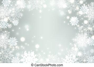 cristal, nieve