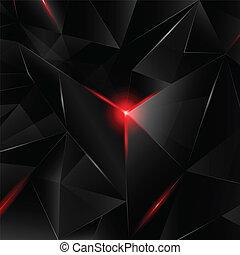cristal, noir