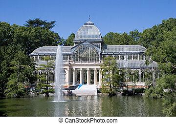 Cristal Palace in the Retiro Park, Madrid, Spain