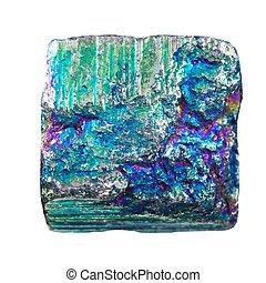 cristal, pedra, mineral, iridescente, pyrite