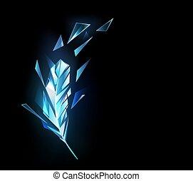 cristal, pena, gelo