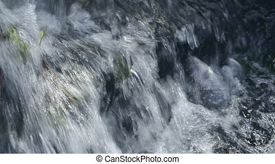 Cristal potable flowing waterfall