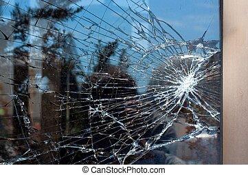 cristal quebrado