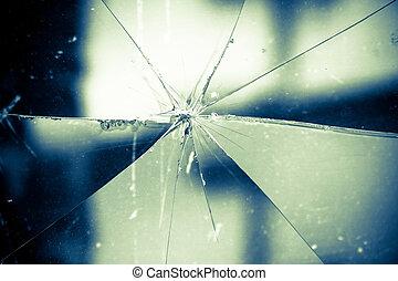 cristal quebrado, plano de fondo, vendimia