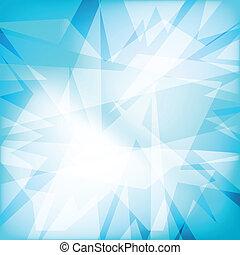 cristal, résumé, futuristy, fond