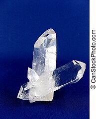 cristal, var., quartzo, rocha