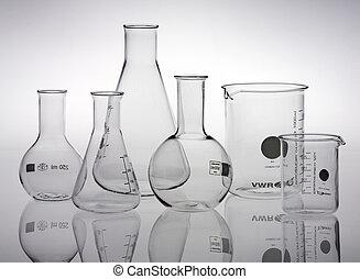 cristalería, laboratorio de investigación, variado