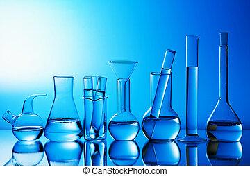 cristalería, laboratorio, químico