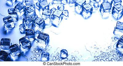 cristales, cubos, hielo