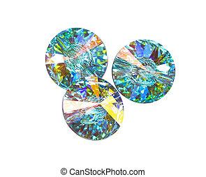 cristales, persona de color de multi