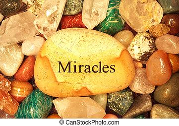 cristales, piedras