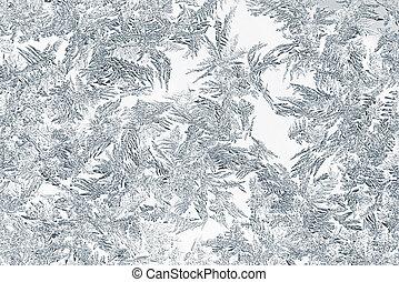 cristalli, closeup, neve, ghiaccio, o