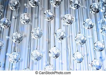 cristalli, fondo, astratto