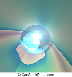 cristallo, astratto, occhio