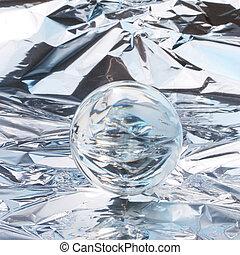 cristallo, astratto, palla