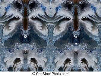 cristallo blu, fondo, roccia