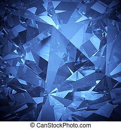 cristallo blu, sfaccettatura, backgroun, lusso