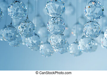 cristallo, candeliere, moderno