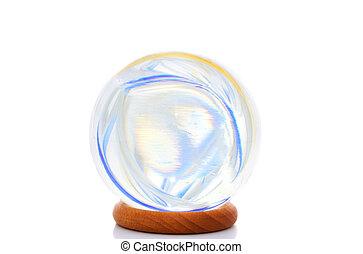 cristallo, colori, palla