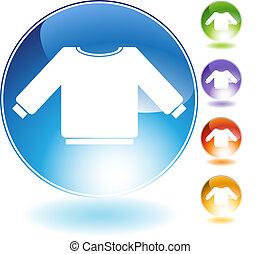cristallo, maglione, icona