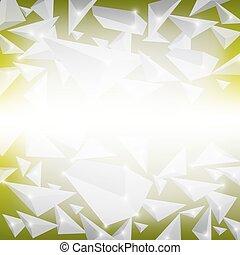 cristallo, verde, modello