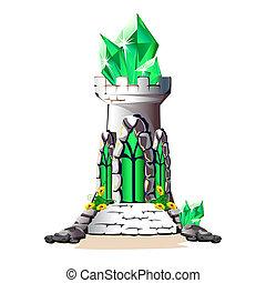 cristaux, conte fées, tour