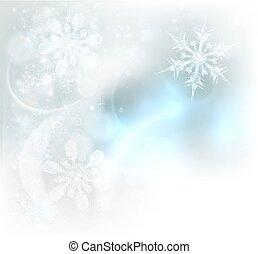 cristaux, flocons neige, noël, fond, glace
