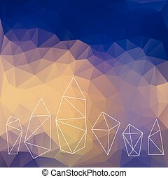 cristaux, fond