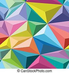 cristaux, seamless, modèle