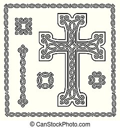 cristian cross with interlaced ornament