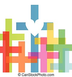 cristianismo, religión, cruz, concepto