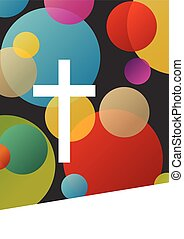 cristianismo, religión, cruz, concepto, resumen, plano de fondo, vector