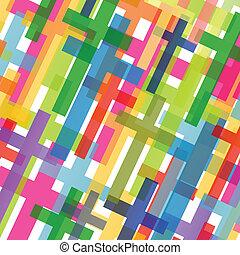 cristianismo, religión, cruz, mosaico, concepto, resumen, plano de fondo, vector, ilustración, para, cartel