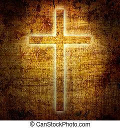cristianismo, representación, con, el, símbolo