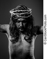 cristianismo, representación, jesucristo, cruz