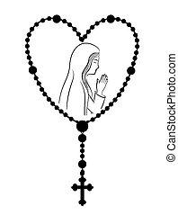 cristianismo, vetorial, illustration., desenho