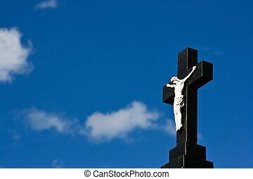 cristiano, cruz, plano de fondo