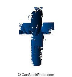cristiano, cruz, señal