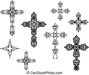 cristiano, disegno, croce