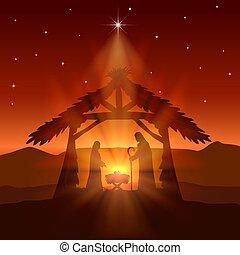 Capanna natale stella cristo gesù. cristo stella illustration