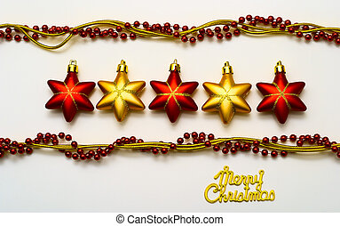 Cristmas card with stars