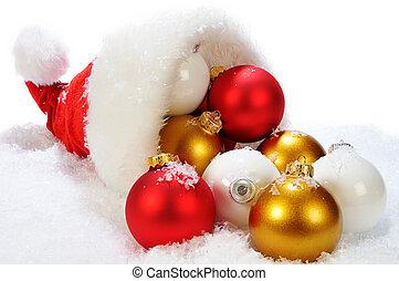 Cristmas Cornucopia - Multicolors christmas balls on the...
