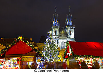 Cristmas Old Town square in Prague, Czech Republic