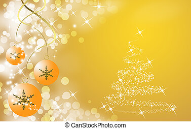 cristmas tree and ball - background