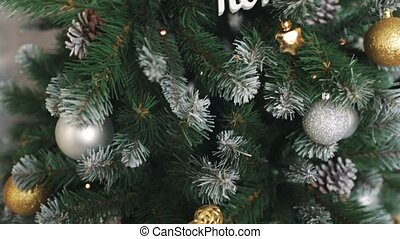 Cristmas tree with toys background