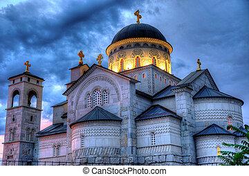 cristo, ortodox, montenegro, podgorica, iglesia, ...