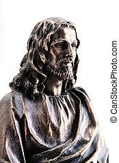 cristo, statua, gesù